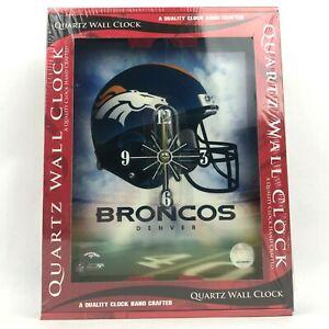 "New Denver Broncos Quartz Wall Clock 10 x 12"" Resin NFL Football Fan Gift"