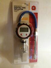Digital Tire Inflator with dual chuck Paddle Trigger LCD digital display