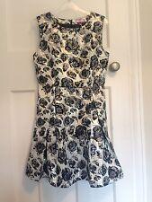 """Joe Brown's """"Roxy's Favourite"""" Black Silver Satin Dress Size 14/16"""