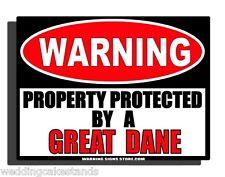 "Great Dane Beware of Dog Property Security 6"" Sticker Yard Home Warning Ws249"