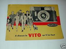 VOIGTLANDER publicité d'époque pour les VITO photo photographie