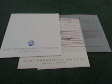 1989 VW Fleet Management services Leasing etc UK brochure Polo Golf Jetta Passat