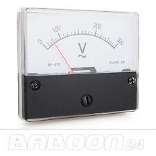 Einbau Messinstrument 0 - 300 V AC, Messgerät, Analog Voltmeter mit Shunt