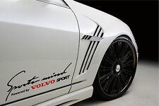Sports Mind Powered by VOLVO Sport Racing Decal sticker emblem logo BLACK/R Pair