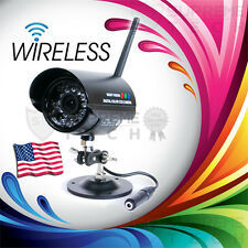 Wireless Color CCTV DVR Outdoor Security Camera Nightvision Audio 4 Ch Frequency