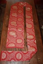 Japanese Nagoya Obi Sash Belt Robe Embroidered Red Kimono Vintage