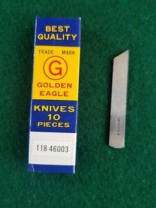 10 × JUKI New lower knives for industrial overlocker No 118-46003