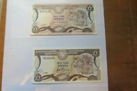 £1 Banknote Cyprus.. (* 2) 79 & 82