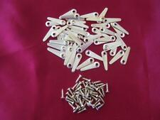 50 PROFESSIONAL METAL GOLD TONE TURN BUTTONS WITH SCREWS PICTURE FRAMING