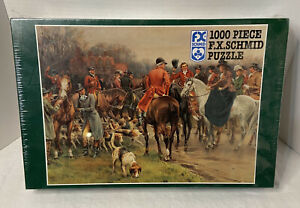 F. X. Schmid 1000 Piece Puzzle A Winter's Morning 90223 Hunting Scene