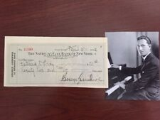George Gershwin Signed Check, American Composer, Pianist, 1932