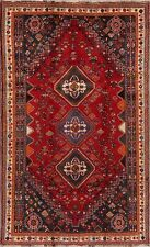 Tribal Traditional Abadeh Geometric Oriental Area Rug Wool Hand-Knotted 5x9 Red