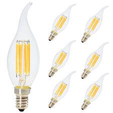 6x 6W E14 LED Filament Dimmbar Glühfaden Fadenlampe Lampe Windstoß Warmweiß