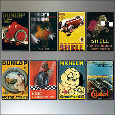 8 Vintage Auto Motor adverts fridge magnets set of 8 vintage fridge magnets