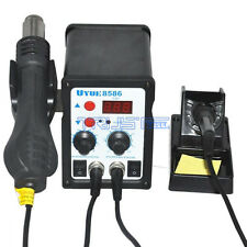 YOUYUE 8586 2 in 1 SMD Rework Soldering Station Hot Air Gun Solder Iron