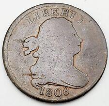 "1808 Philadelphia Mint US ""Draped Bust"" Half Cent  Good Condition"