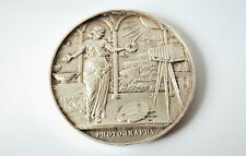 ANTIQUE STERLING SILVER MEDAL FOR PHOTOGRAPHY 1907