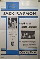 C-1940s poster JACK RAMON REPTILES of NORTH AMERICA tour New York schools SNAKES