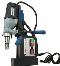 "BLUEROCK ® Magnetic Drill Model BRM-35/B Black w/ 2"" Annular Cutter Set Mag Set"