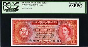 Belize QEII 5 Dollars 1976 Pick-35b Superb GEM UNC PCGS 68 PPQ