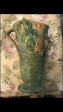 Roseville Brown Bush berry Vase 38 1/2 Green