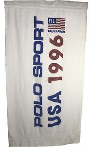 Rare Vintage RALPH LAUREN Polo Sport 1996 RL USA Flag Bath Beach Towel 96