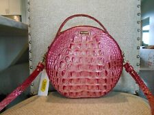 New BRAHMIN Lane LOTUS MELBOURNE Canteen Leather Crossbody $245 PINK