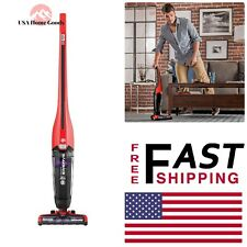 Red Pet Cordless Stick Vacuum Cleaner 16 Volt Floor Carpet Concrete Lightweight