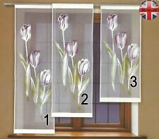 """Window net curtain panel ready to hang TULIP Drop120cm-47""""or140cm-55""""or160cm-63"""""""
