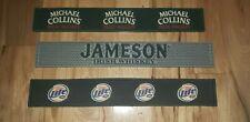 LOT OF 3 JAMESON Whiskey Michael Collins Miller Lite Rail Runner Bar Mat rubber