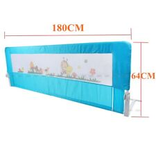 Child Toddler 150/180cm Safety Bed Rail Baby Bedrail Fold Cot Guard Protection Blue 180cm