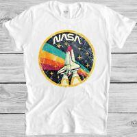 NASA T Shirt Distressed Logo Space Agency Vintage Tee 5023