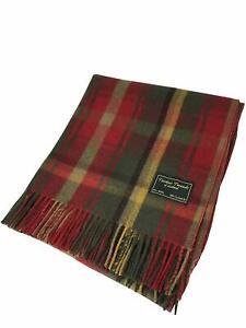 TARTAN TWEEDS New Scottish Tartan 100% Wool Knee Blanket Quality Rug Brand New