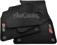 Audi A7 2010-2016 Black Floor Mats With RS Logo With Clips LHD Side EU