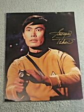 GEORGE TAKEI Hand Signed Original STAR TREK Iconic Sulu with Phaser