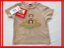 SMALL PAUL FRANK Julius bébé 9 mois NEUF T-shirt manches courtes marron VAL 40€