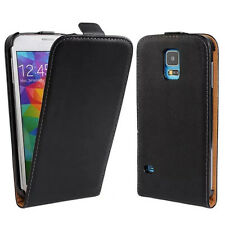 HOT Luxury Genuine Leather Vertical Flip Phone Case Covers For Samsung Galaxy S5