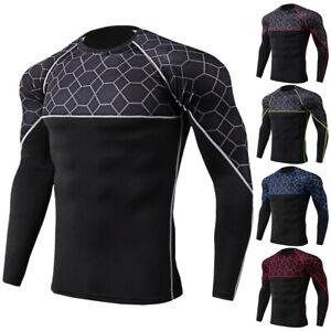 Herren Kompressions T-Shirt Muskelshirt Training Quick Dry Running Baselayer Top