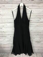 TED BAKER Halter Neck Dress - Size 2 UK10 - Black - Great Condition