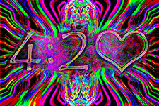 4:20 NEON WEED - BLACKLIGHT POSTER - 24X36 MARIJUANA SMOKING 420