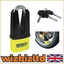 Motorbike Mammoth Maxi Disc Lock 11mm hardened steel pin LODMAX01