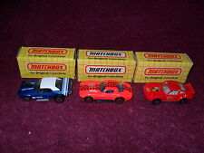 "NINE (9) ""Original"" 1975-93 Issue ""VINTAGE"" ""MATCHBOX""Classic ""VEHICLES"""
