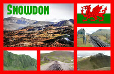 SNOWDON, WALES - SOUVENIR NOVELTY FRIDGE MAGNET - SIGHTS / TOWNS - NEW - GIFTS