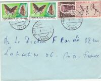French Colonies 1970s Butterflies, Archers Instrument Stamps Cover Ref 44729