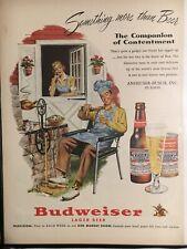 Budweiser Ken Murray 1951 Authentic Vintage Ad Decor