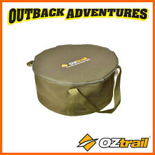 OZTRAIL CANVAS 12 QUART CAMP OVEN BAG - STORAGE & CARRY BAG WITH HANDLES