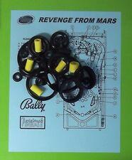 1999 Bally Revenge From Mars pinball rubber ring kit RFM