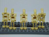 Genuine Lego Star Wars  5 x Battle Droids  Mini Figures