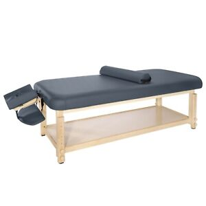 Master Massage Laguna Stationary  Massage Couch Bed Package, 76 cm, Royal Blue
