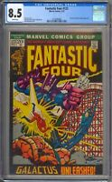 Fantastic Four 122 CGC Graded 8.5 VF+ White Pages  Marvel Comics 1972